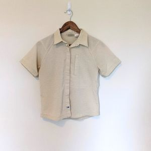 The North Face Top Button Down Short Sleeves S